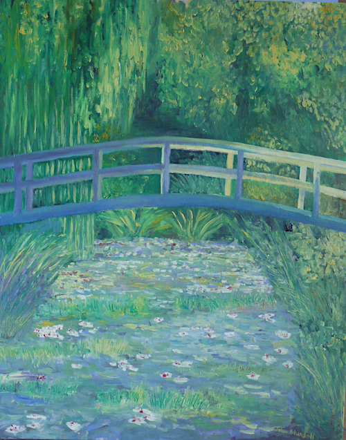 Copy of Monet Waterlily pond  (Private Collection)