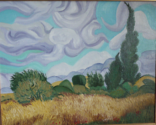 Copy of Van Gogh Cornfield and Cypress trees