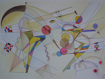 Two dancers in style of Kandinsky 1